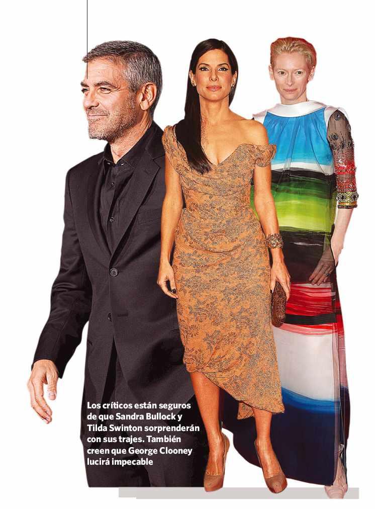 George Clooney, Sandra Bullock y Tilda Swinton