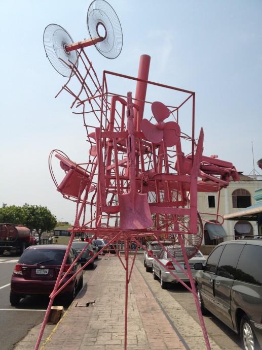 Instalación en la entrada del CAMLB FOTO: MAR
