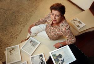 Rafela Bimbo en la exposición de Espectáculo Íntimo en la Alianza Francesa en Chacaito, Caracas 2010 FOTO: MANUEL SARDÁ