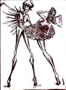 Dibujo de Victoria Díaz