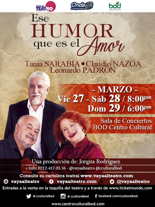 Es humor que es el amor Leonardo Padrón Tania Sarabia Claudio Nazoa